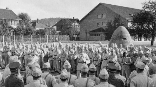 Luftschutztruppe im Zeughaus um 1945