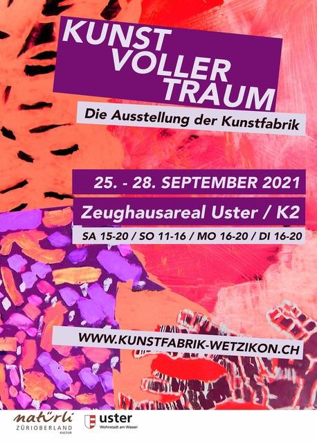Flyer Kunstfabrik Zeughausareal Ausstellung Uster